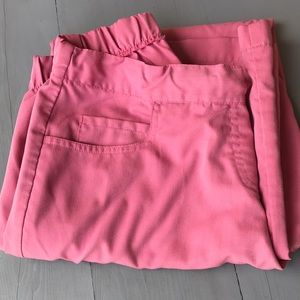 Grey's Anatomy pink, stub bottoms, Small Petite.